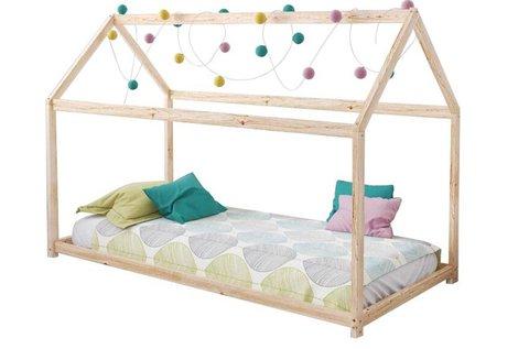 Házikó formájú gyerekágy 70x140 cm-es kerettel