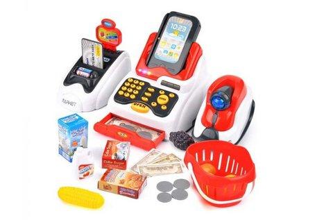 24 részes játék pénztárgép hang- és fényhatásokkal