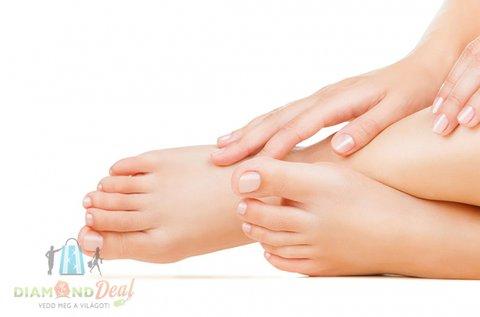 Gyógypedikűr géllakkal vagy paraffinos lábápolással