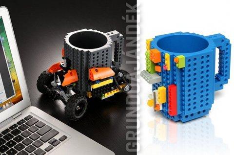 3,5 dl-es, Lego stílusú bögre ajándék építőelemekkel