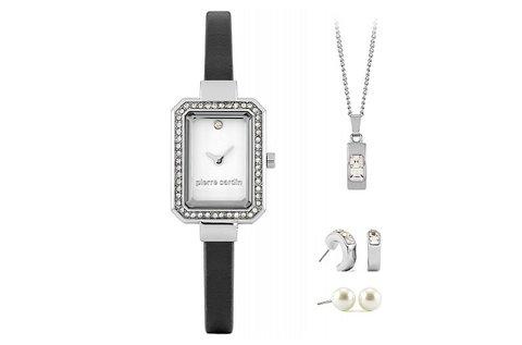 Pierre Cardin női karóra ezüst ékszerszettel