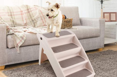 Praktikus, összecsukható lépcső kisállatoknak