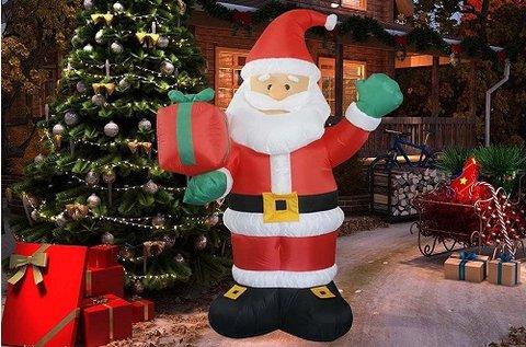 Felfújható karácsonyi figurák LED világítással