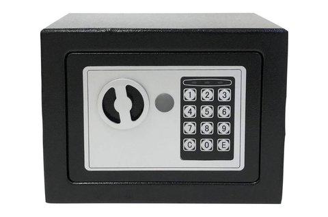 Möller elektronikus széf kulccsal és számzárral