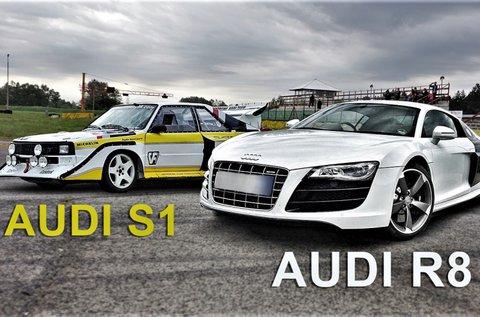 Audi R8 és Audi S1 élményvezetés 3-3 körön át