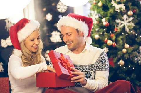 Karácsonyi műtermi, páros fotózás átváltoztatással