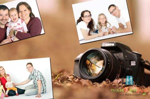Családi fotózás műteremben vagy külső helyszínen