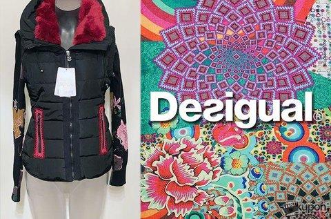 Női Desigual steppelt, mellénnyé alakítható dzseki