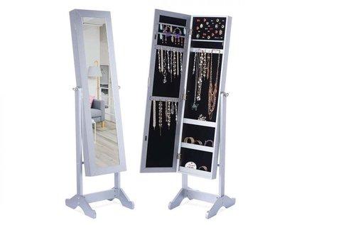 Tükrös ékszertartó szekrény LED világítással