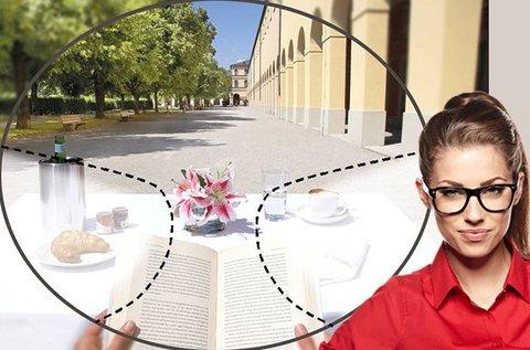 Kezdő multifokális szemüveg stílusos kerettel