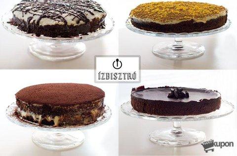 Választható 8 vagy 12 szeletes mentes torták