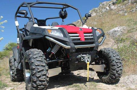 3 kör ZForce offroad quadozás rallycross pályán