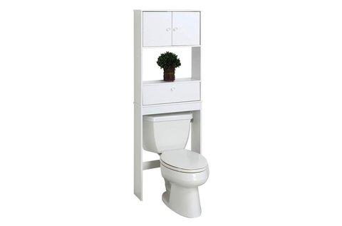 Helytakarékos, toalet fölé szerelhető szekrény