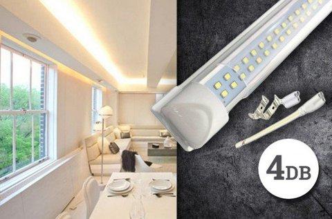 4 db 120 cm hosszúságú, 18 W-os LED lámpa