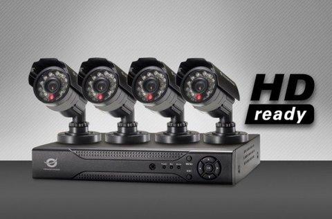 Komplett megfigyelő rendszer 4 db kamerával