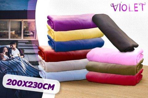Violet nagyméretű, puha pléd különböző színekben