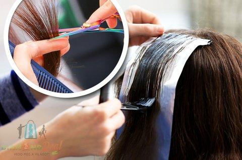 Modern, rövid frizura melírral és hajvágással
