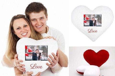 Valentin-napi szívecske párna egyedi fotóval