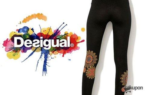 Fekete színű Desigual leggings mandala mintával