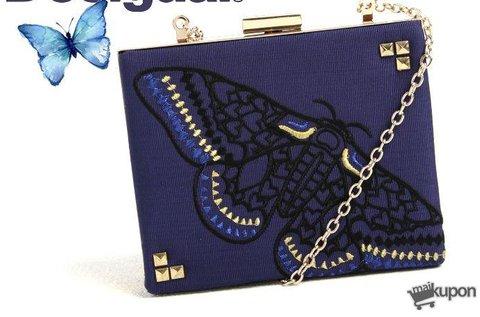 Desigual Caja Revival boríték táska lepke mintával