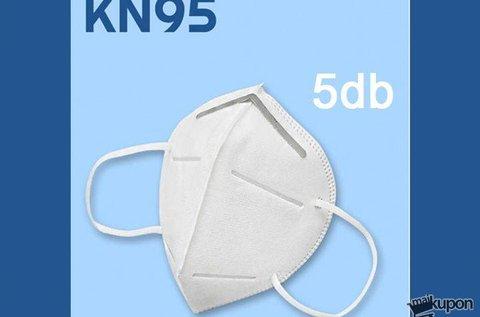 5 db többször használható KN95 típusú szájmaszk