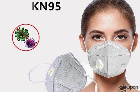 1 db KN95 típusú szelepes arcmaszk