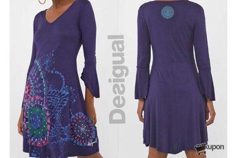 Letisztult stílusú, kék Desigual női ruha