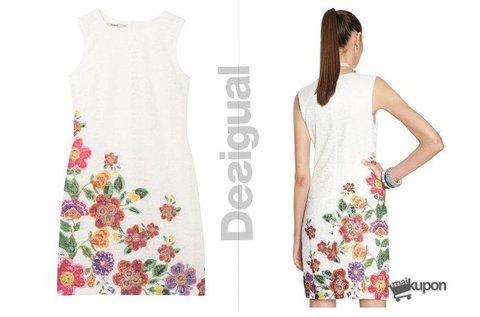 Ujjatlan, női Desigual ruha színes virágmintával