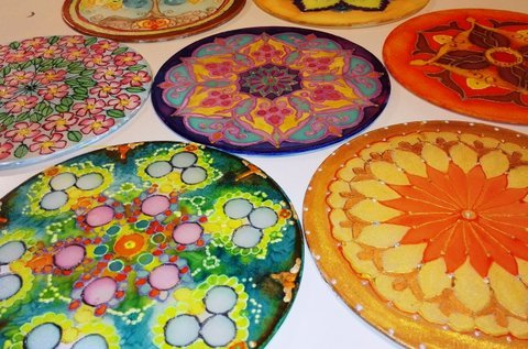 3 órás selyem mandala festő tanfolyam