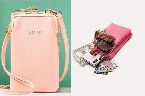 Dekoratív, praktikus mobil táska cipzárral