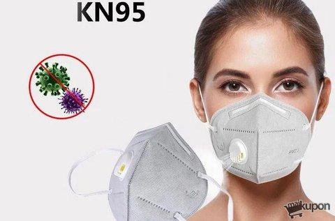 1 db professzionális KN95 szelepes maszk