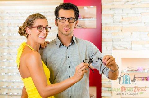 Divatos szemüveg készítés egyfókuszú lencsével