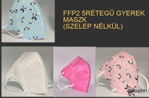 10 db szelep nélküli FFP2 5 rétegű gyerekmaszk
