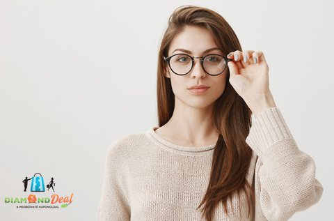 Komplett szemüveg egyfókuszú lencsével