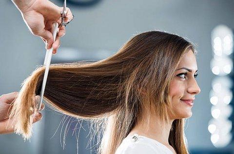 Profi hajvágás mosással, szárítással hosszú hajra