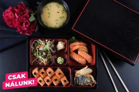 Ázsiai lunchbox választható bubble teával