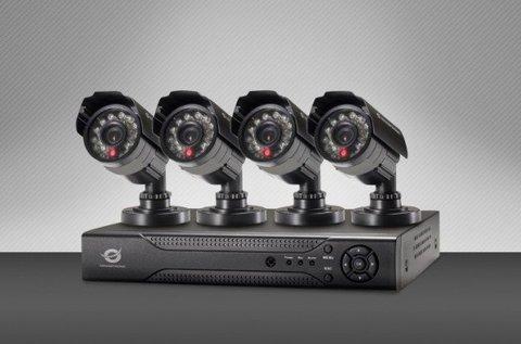 Megfigyelőrendszer 4 db  éjjellátó kamerával