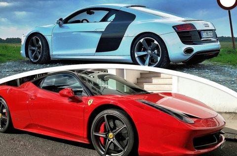 Ferrari 458 Italia és AUDI R8 vezetés közúton