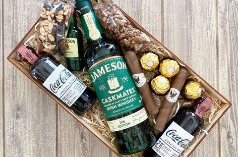 Jameson Wood Box  whiskeyvel, bonbonnal