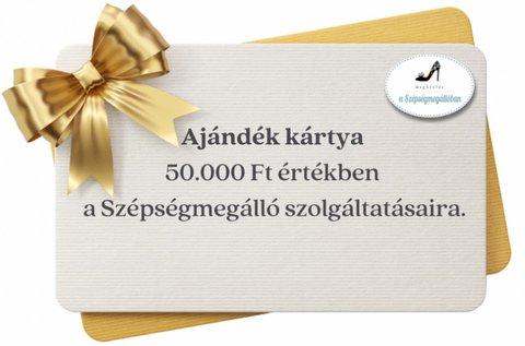50.000 Ft értékű utalvány szépészeti kezelésekre