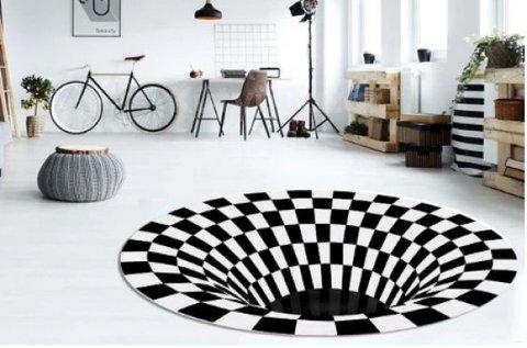 Dizájnos, 3D örvény hatású szőnyeg
