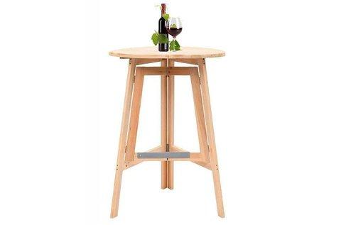 Összecsukható, fa party asztal