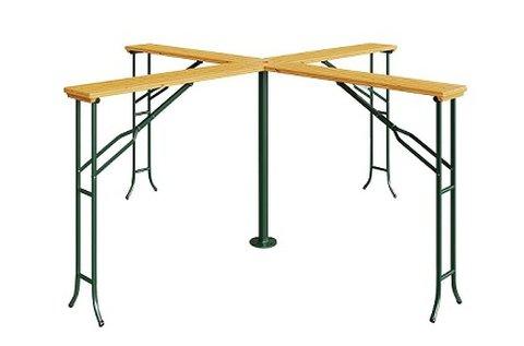 4 állásos söröző asztal napernyőtartó lyukkal