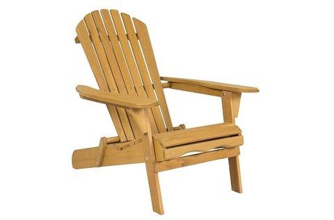 Adirondack fa kerti szék döntött háttámlával