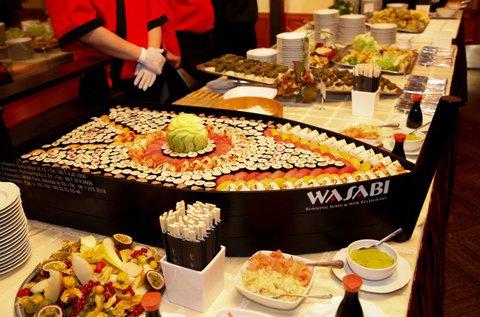Korlátlan ételfogyasztás a Wasabi étteremben
