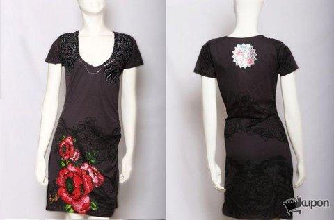Desigual könnyed nyári  pamut ruha virág mintával