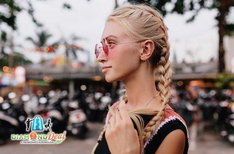 Női haj vágása választható hajfonat készítésével