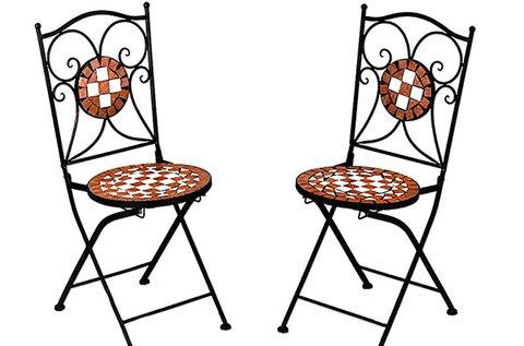 2 db mediterrán stílusú, mozaikmintás szék