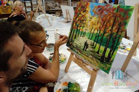 Páros festő workshop közös festmény készítéssel