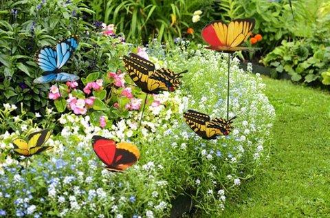 50 db kerti pillangó dekoráció
